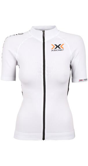X-Bionic The Trick Biking Shirt SS Full Zip Women Full Zip White/Black
